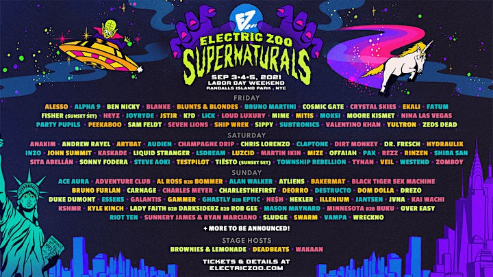 ELECTRIC ZOO 2021- Supernaturals NYC September, 3-4-5, 2021 image