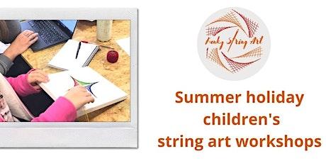 Children's summer holiday string art workshop tickets