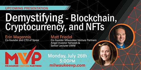 Demystifying - Blockchain, Cryptocurrency, and NFTs (Virtual and Onsite) tickets