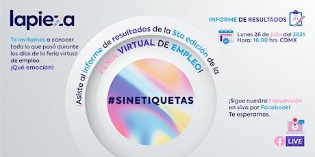 Informe de resultados de Feria Virtual #SinEtiquetas entradas