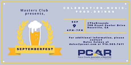PCAR Masters Club Presents | Septemberfest tickets