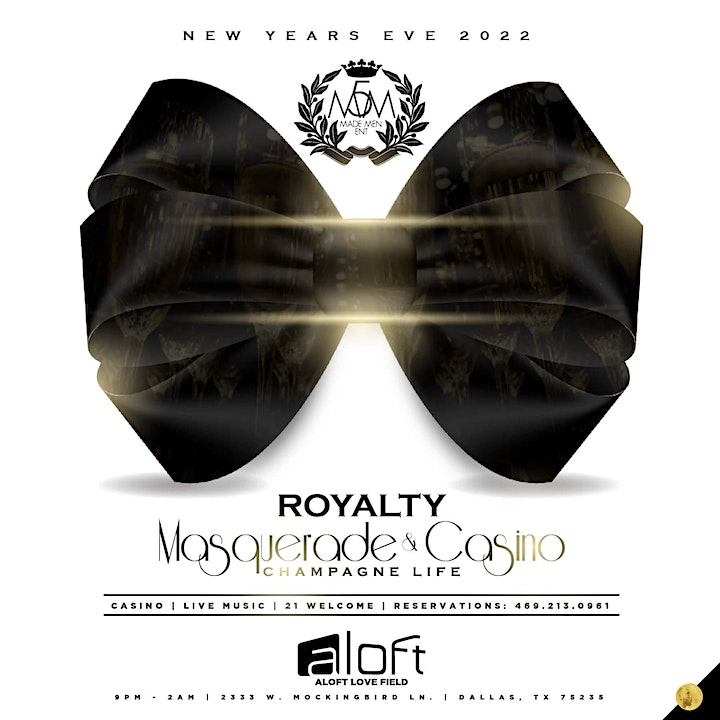 11th Annual New Years Eve 2022 Champagne Life: ROYALTY MASQUERADE & CASINO image