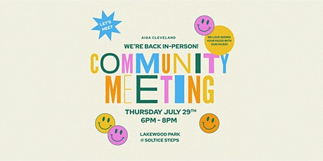 July Community Meeting tickets