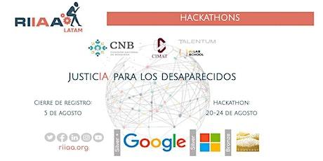 """RIIAA 2021 - Hackathon """"JusticIA para los desaparecidos"""" entradas"""
