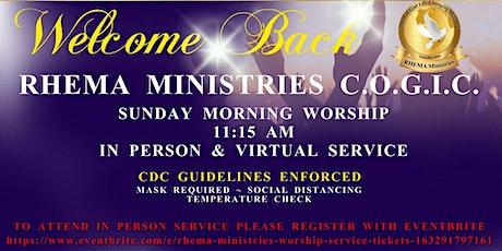 RHEMA Ministries Worship Service tickets