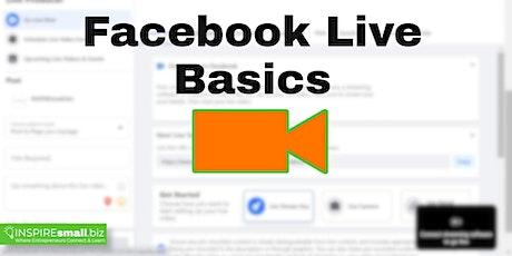 Webinar: Facebook Live Basics tickets