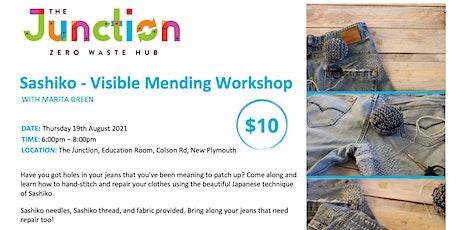 Sashiko - Visible Mending  Workshop tickets
