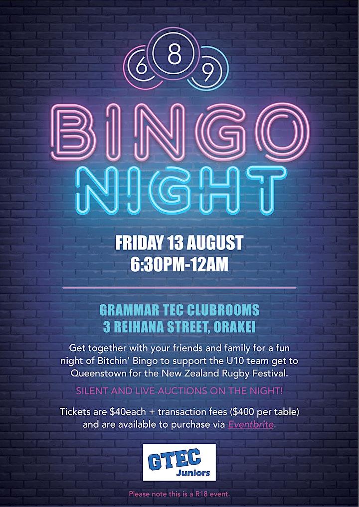 GTEC Juniors Btchn Bingo Fundraiser image