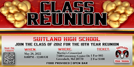 SHS Class of 2012 10th Year Reunion tickets