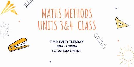 Maths Methods  Units 3&4 Online Class tickets