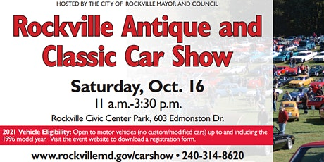 2021 Rockville Antique and Classic Car Show tickets
