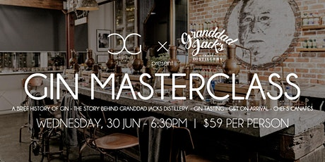 NEW DATE: Gin Masterclass - presented by Granddad Jacks tickets