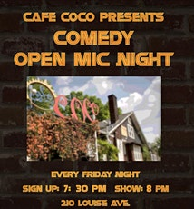 COMEDY NIGHT at Cafe Coco tickets