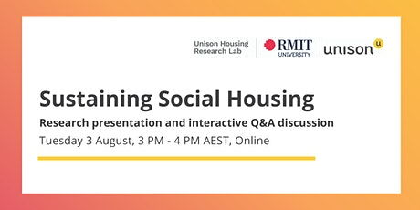 Online Report Launch and Discussion: Sustaining Social Housing tickets