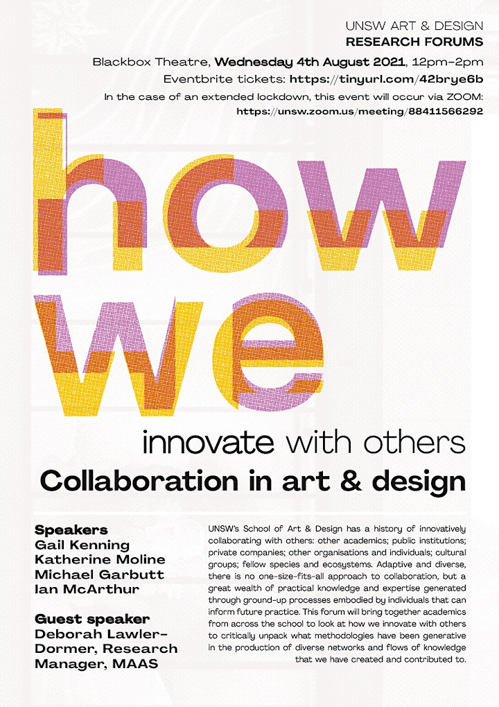 UNSW Art & Design Research Forums 2021 #1 image