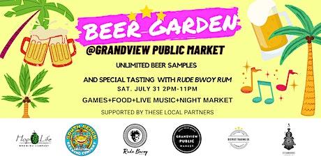 Beer Garden and Concert at Grandview Public Market tickets