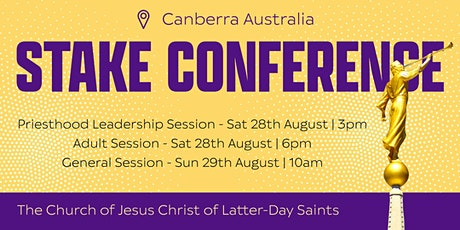 Canberra Australia Stake Conference tickets