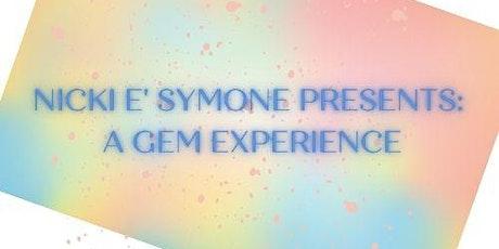 Nicki E Symone : GEMS EXPERIENCE (Virtual Ticket) tickets