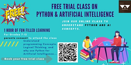 Free Trial Class on Artificial Intelligence and Python Coding tickets