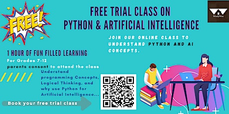 Free Trial Class on Artificial Intelligence and Python Coding - Seattle tickets