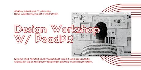 MDC's Design Workshop w/PeadPR tickets