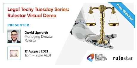 Legal Techy Tuesday Series: Rulestar Virtual Demo tickets