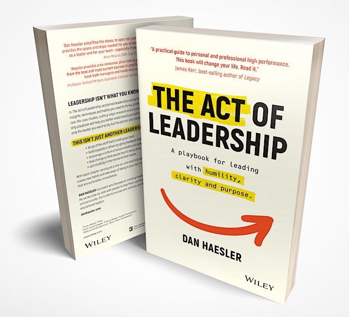The Act of Leadership by Dan Haesler  | Online Book Launch | Tues Afternoon image