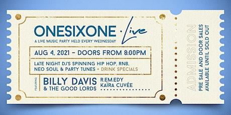 ONESIXONE.live w/ Billy Davis & The Good Lords tickets