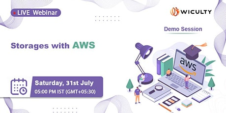 Storages with AWS | Live Webinar | Demo Session tickets