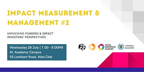 Impact Measurement & Management -  Funders & Impact Investors' Perspectives tickets