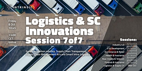 Logistics and Supply Chain Innovations Conference | Session 7of7 tickets