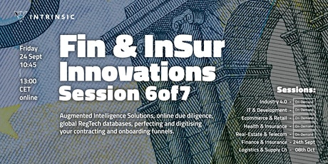 Finance and Insurance Innovations Conference | Session 6of7 tickets