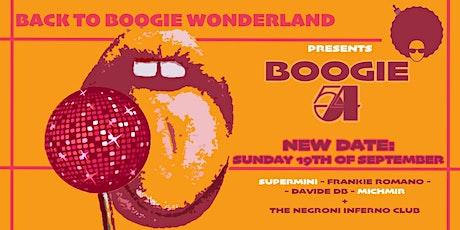 Back to Boogie Wonderland Presents Boogie 54 tickets