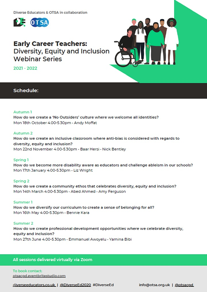 Early Career Teachers: Diversity, Equity and Inclusion Webinar Series -2/6
