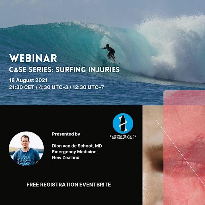 Surfing Medicine Webinar : Case Series Surfing Injuries image