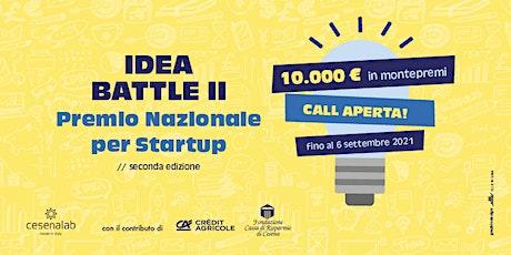 IDEA BATTLE II - Premio Nazionale per Startup biglietti