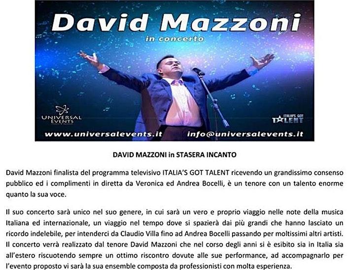 Immagine Concerto del tenore DAVID MAZZONI  (evento gratuito)