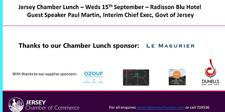 Jersey Chamber Lunch - September 2021 tickets
