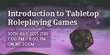 Introduction to Tabletop Roleplaying Games tickets