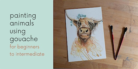 Painting Animals using Gouache tickets