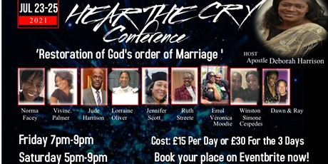 Hear the cry - Restoration of God's order for marriage tickets