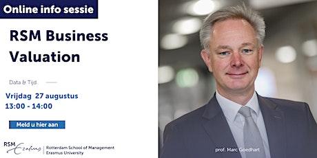 Online informatiesessie RSM Business Valuation - 27 augustus 2021 tickets