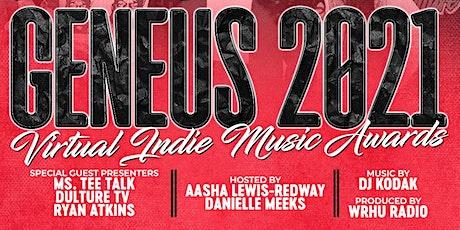 Geneus 2021 Virtual Indie Music Awards tickets