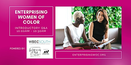 Enterprising Women of Color Introductory Q&A tickets