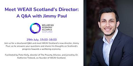 Meet WEAll Scotland's Director: A Q&A with Jimmy Paul tickets