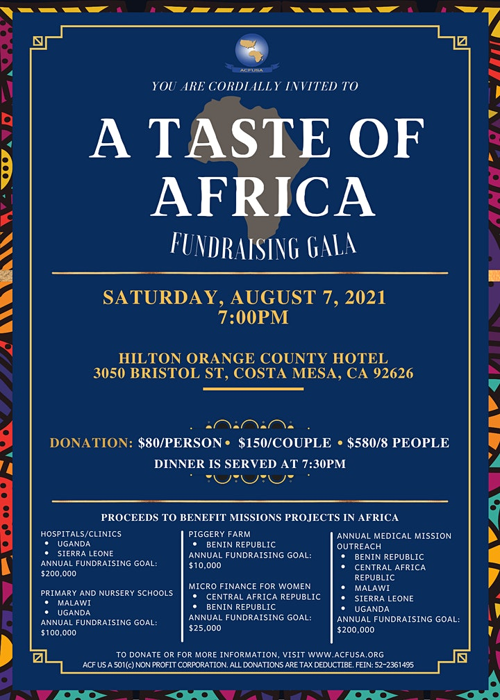 A Taste of Africa Fundraising Gala image