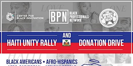 Haitian Unity Rally & Donation Drive tickets