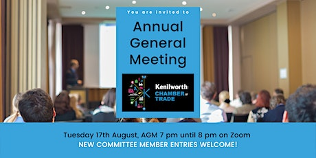 Kenilworth Chamber of Trade Online AGM tickets
