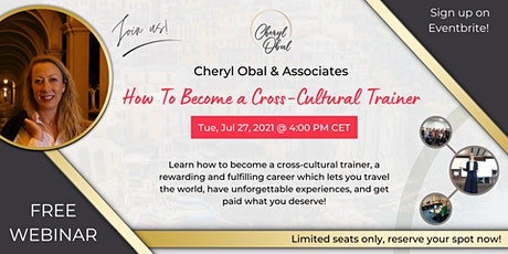 How To Become a Cross-Cultural Trainer tickets