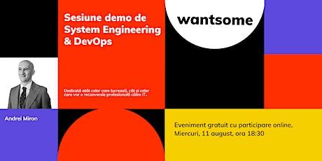 Sesiune demo gratuită de System Engineering & DevOps tickets